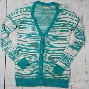 Staring at Stars Turquoise/white Cardigan Medium